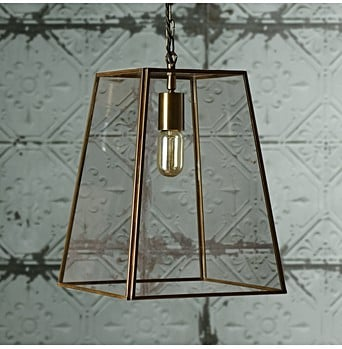 Larger Luxor Lantern In Brass And Clear Glass GBP160 Dexter Pendant