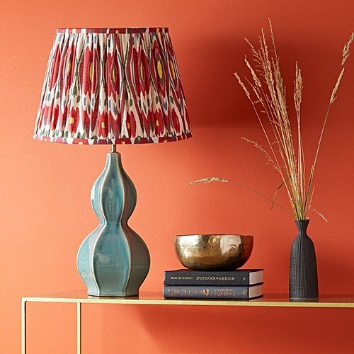 Tapered Lampshade Pleated Cotton Fabric