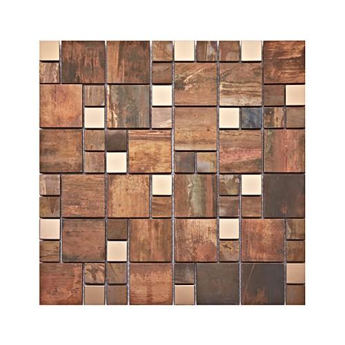 Copper Fusion Modular Mix Mosaic Tile