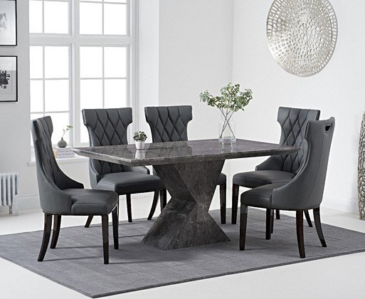 Marble Dining Room Table Chair Sets Oak Furniture Superstore