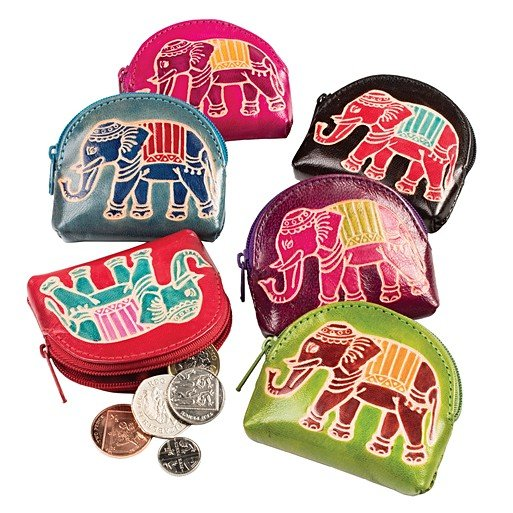 Elephant Zip Purse