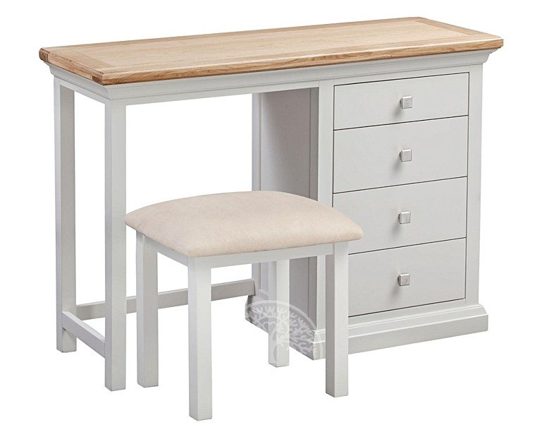 Wedmore Oak and Grey Painted Dressing Table Set