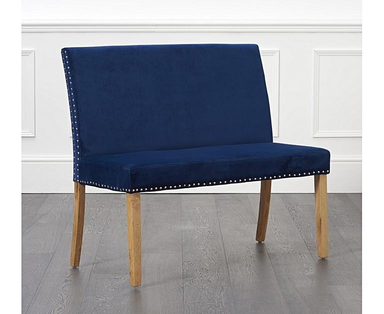 blue velvet bench. blue velvet bench