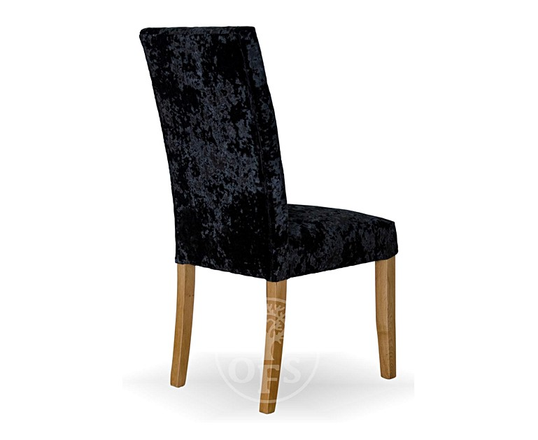 Copenhagen Black Deep Crushed Velvet Dining Chairs