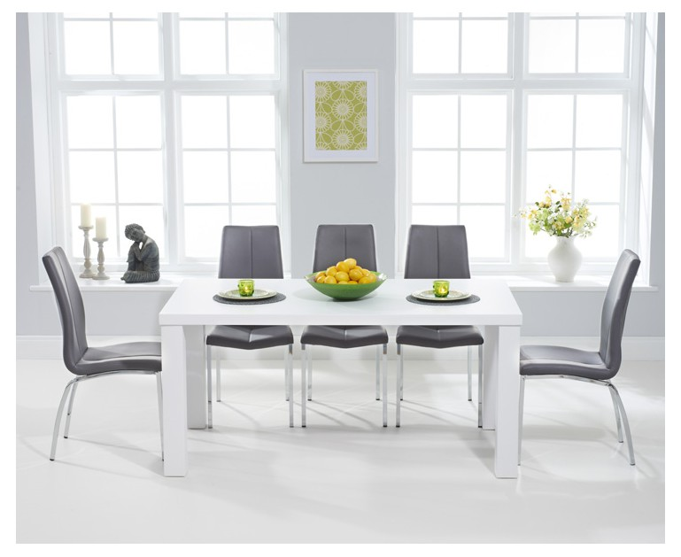 athens 160cm matt white dining table with cavello chairs rh oakfurnituresuperstore co uk white dining table round white dining table ikea
