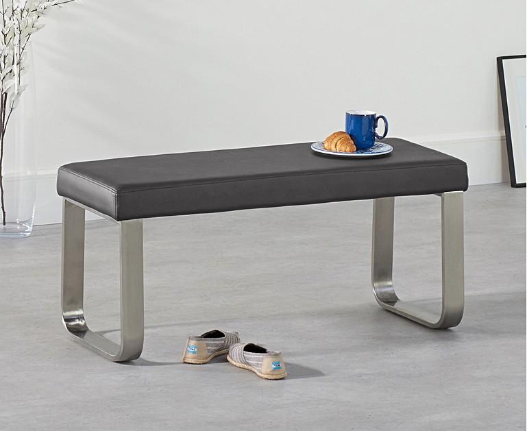 Atlanta 120cm Dark Grey High Gloss Dining Table With