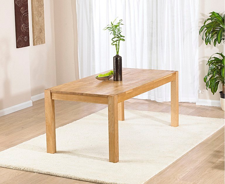 Verona 150cm Solid Oak Dining Table with Camille Faux ...