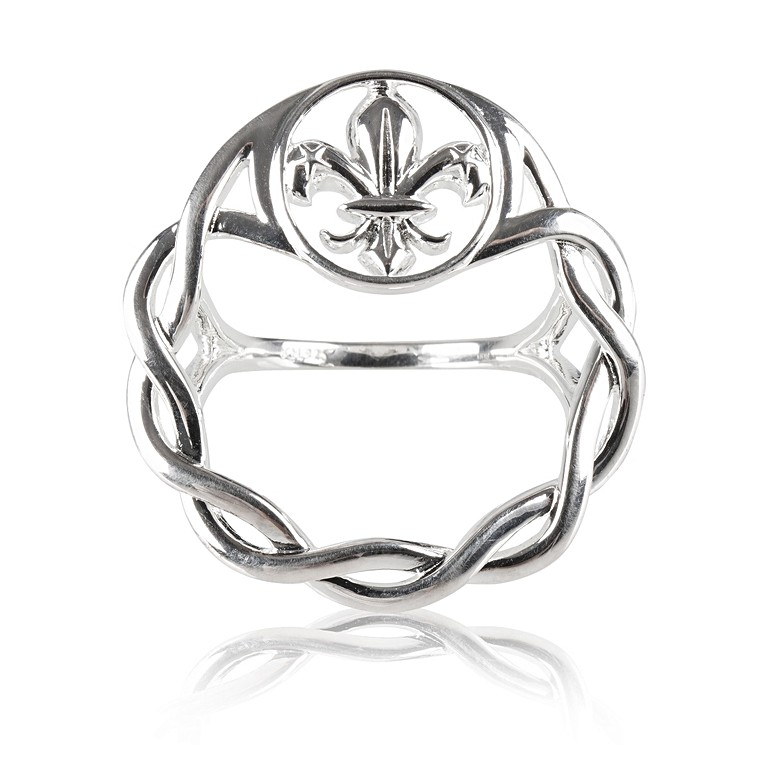 Scouts Heritage Kit Heath Silver Plated Scarf Ring