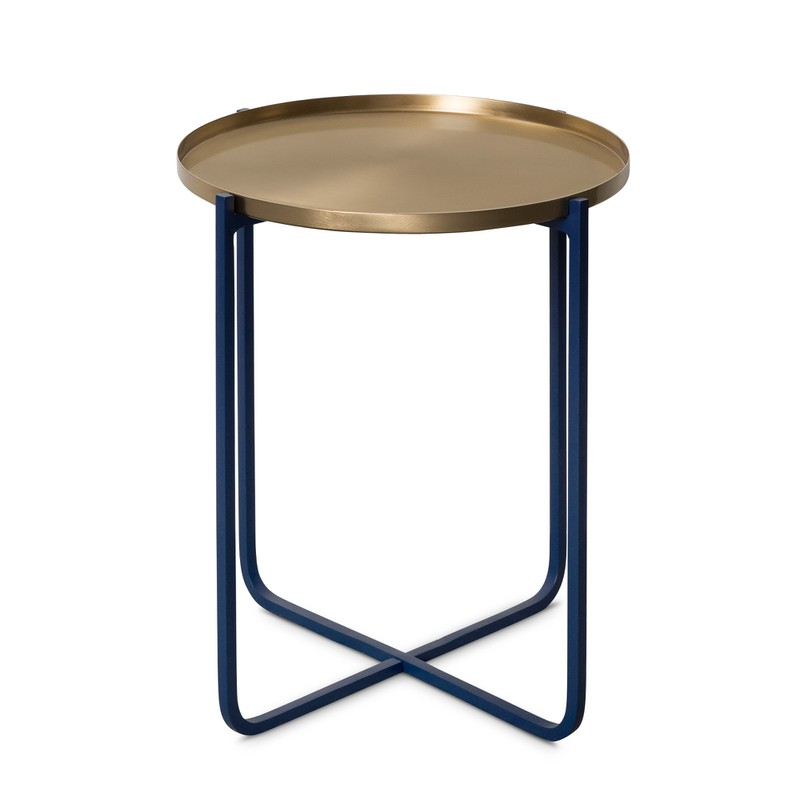 Oliver Bonas Iggy Metal Tray Side Table, size Small