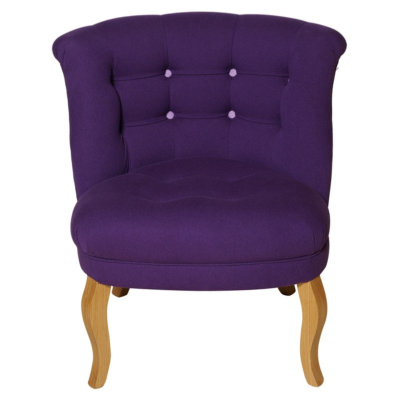 Contrast Button Cotton Tub Chair