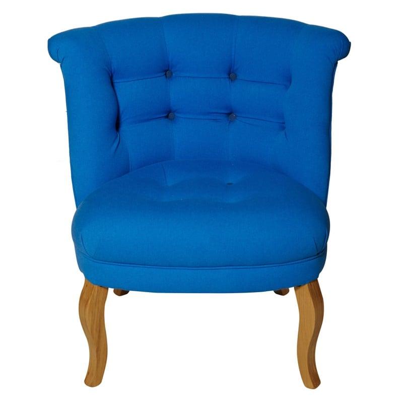 Contrast Button Cotton Tub Chair