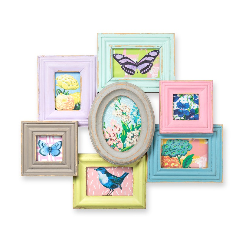 Multi Pastel Brights Wall Frame
