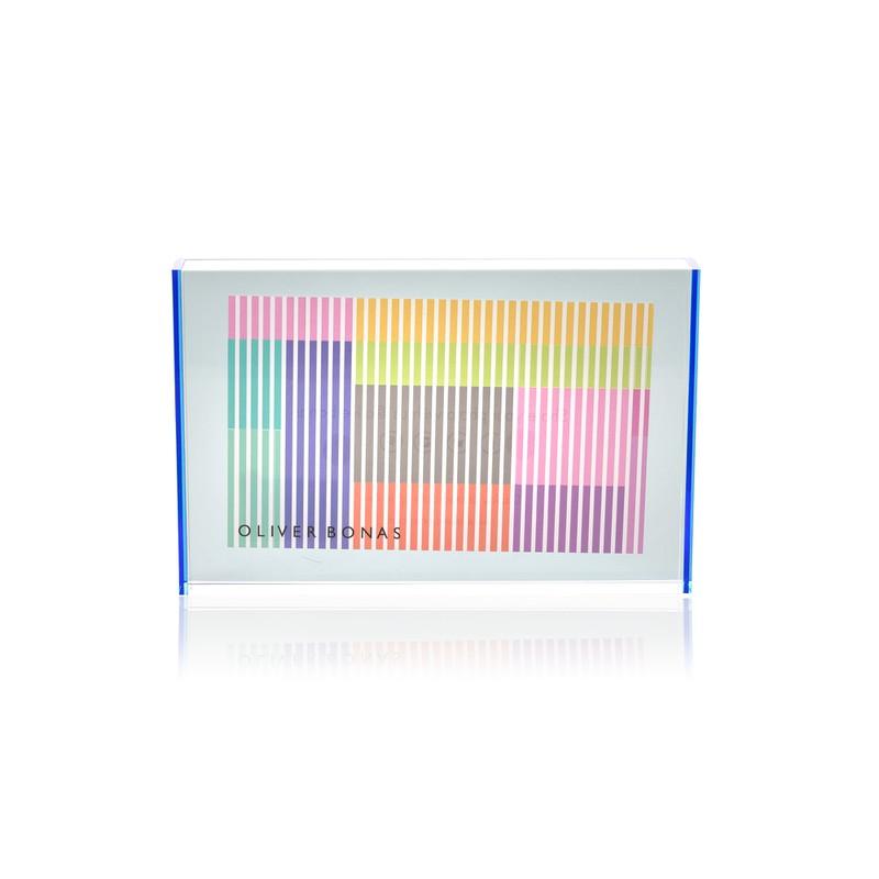 "Blue Acrylic Neon Block Frame 4 x 6"""
