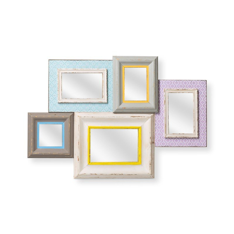 Multi Five Pastel Brights Mirror Frame