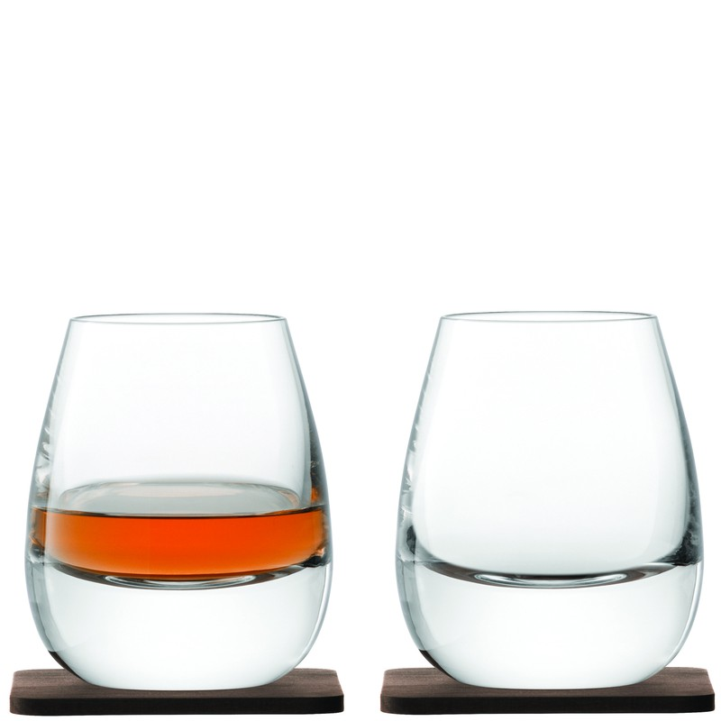 LSA Islay Whisky Tumblers & Walnut Coasters