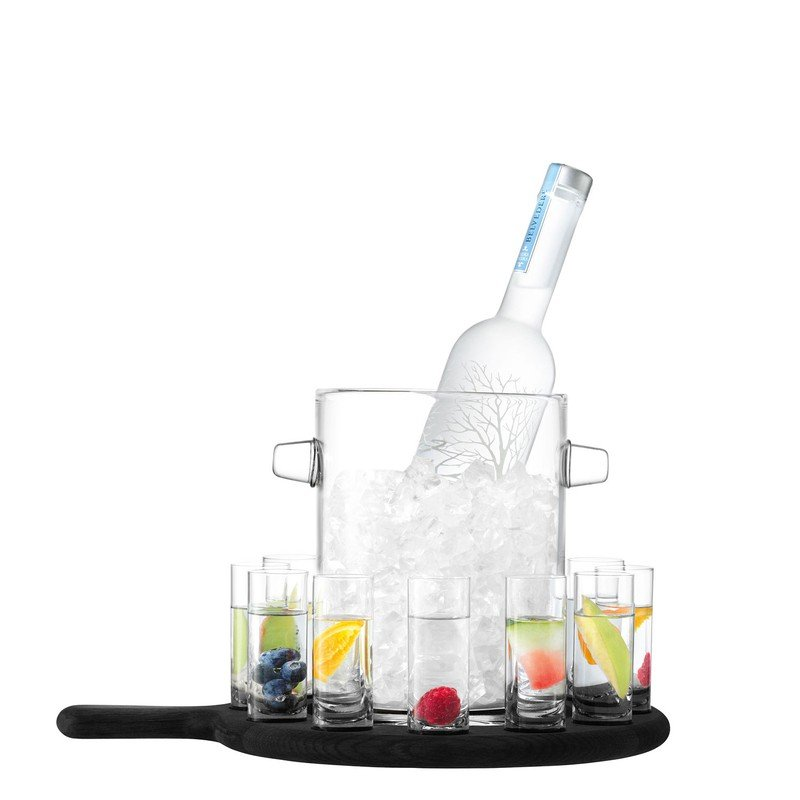 LSA Black Paddle Vodka Serving Set
