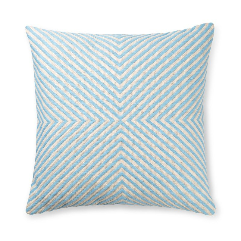 Light Blue X Woven Stripe Cushion