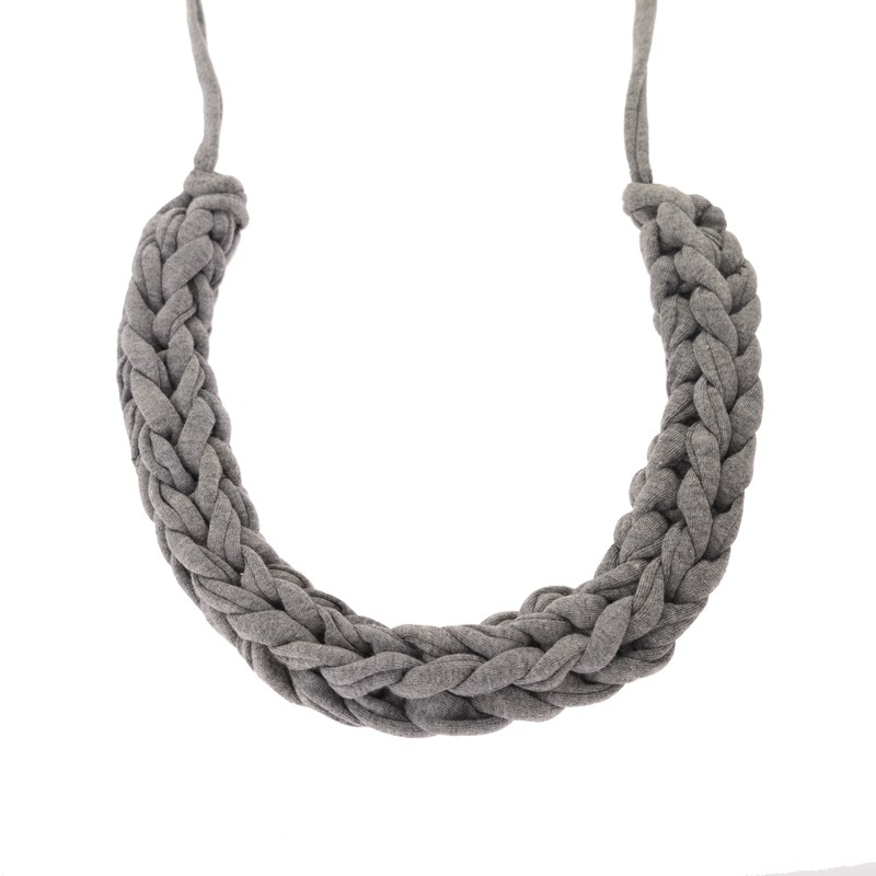 Cora Jersey Plaited Collar Necklace
