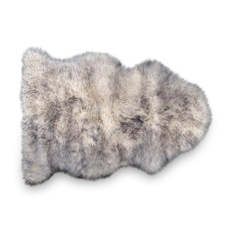 Silver Tipped Sheepskin Rug