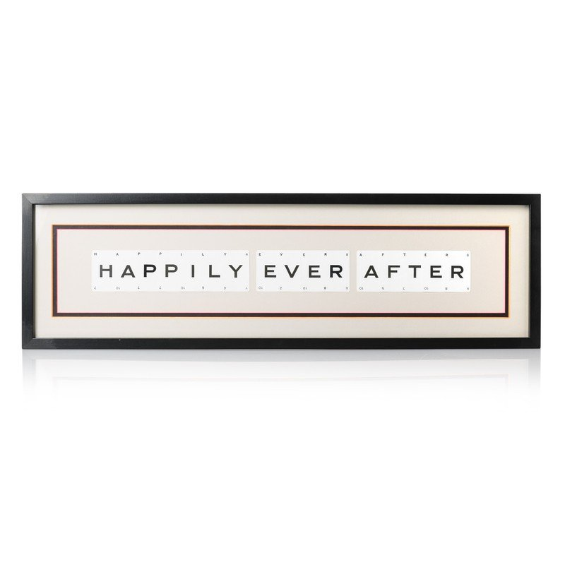 Vintage Playing Cards 'HAPPILY EVER AFTER' Framed Wall Art
