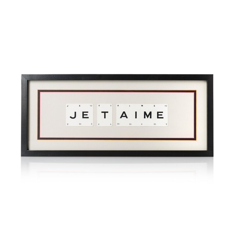 Vintage Playing Cards 'JE TAIME' Framed Wall Art