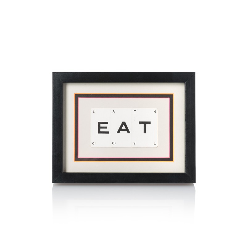 Vintage Playing Cards 'EAT' Framed Wall Art