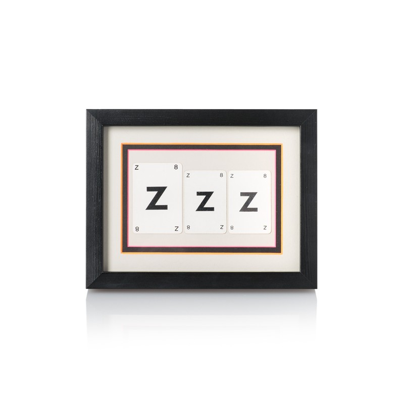 Vintage Playing Cards 'ZZZ' Framed Wall Art