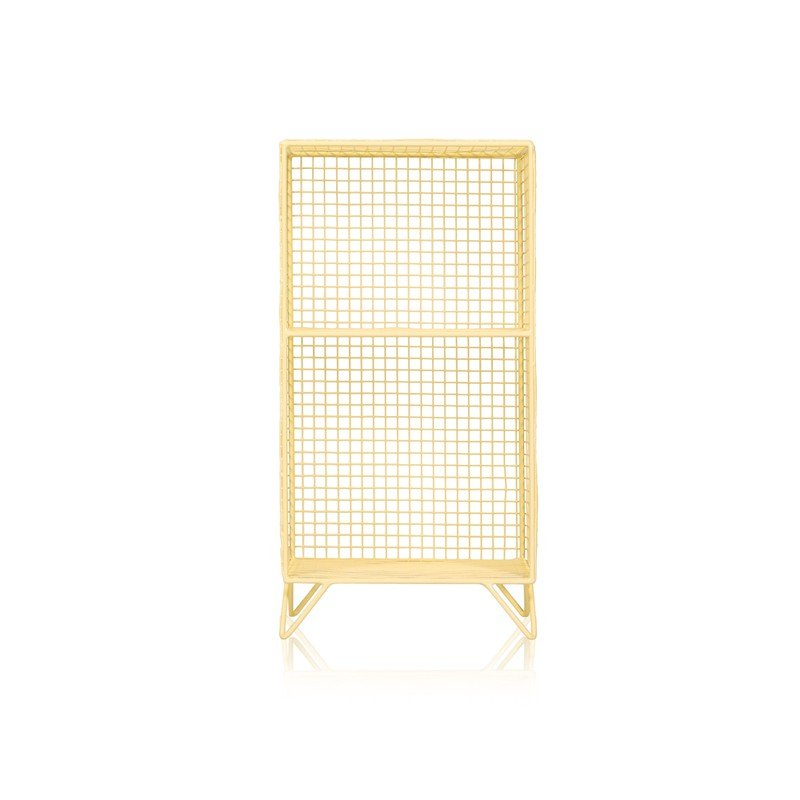 Yellow Grid Two Shelf Mix Match Storage Unit