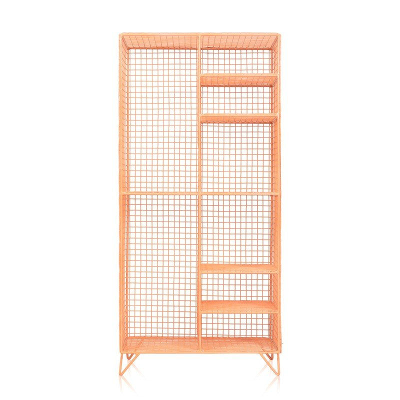 Coral Grid Eight Shelf Mix Match Storage Unit