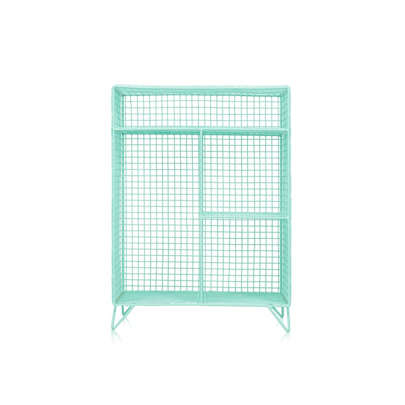 Duck Egg Grid Four Shelf Mix Match Storage Unit