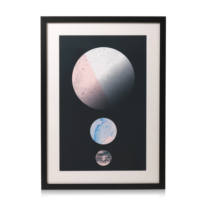 Triple Planets Wall Art