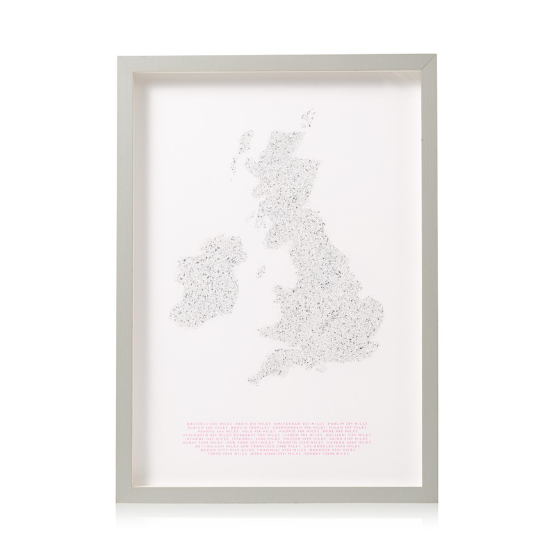Going the Distance Map Wall Art