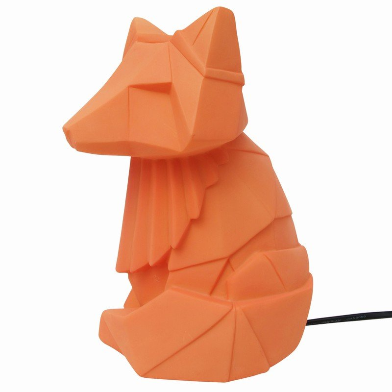 Orange Fox Lamp