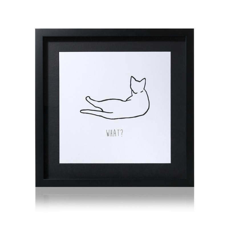 What? Cat Wall Art