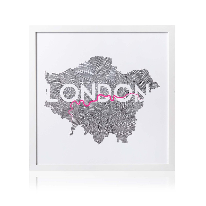 London Map Wall Art