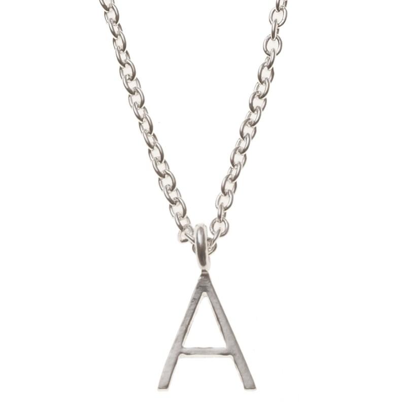 Silver Alphabet Necklace