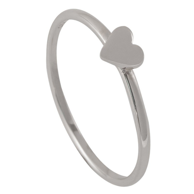 Silver Love Heart Ring