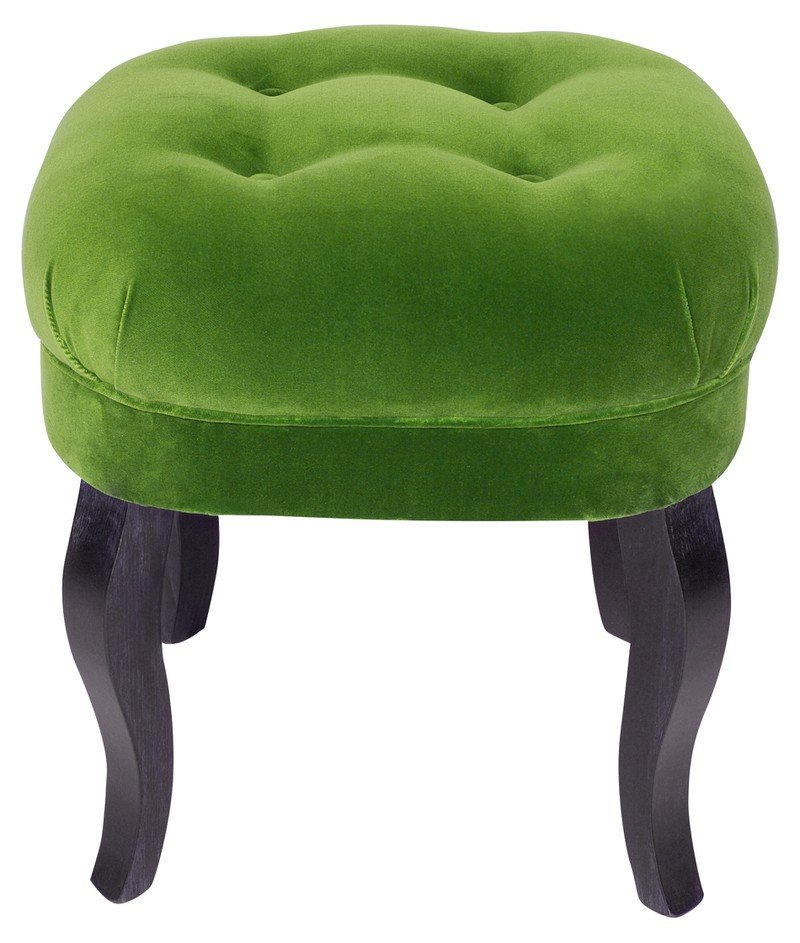 Velvet Button Stool