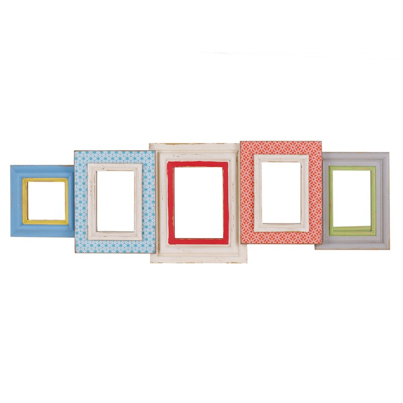 Long Geo Brights Multi Mirror Frame