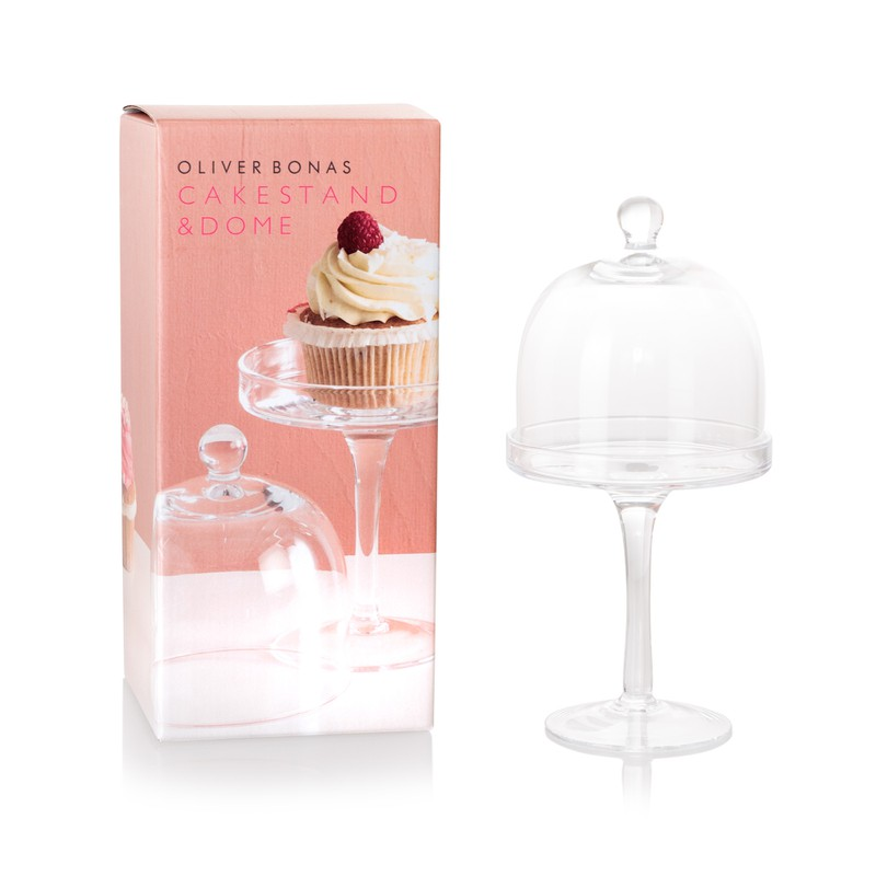 Oliver Bonas Mini Cake Stand with Dome