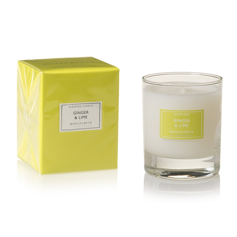Small Ginger & Lime Scented Candle