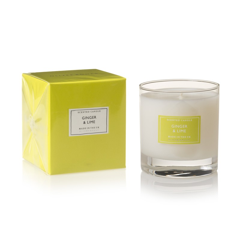 Large Ginger & Lime Scented Candle