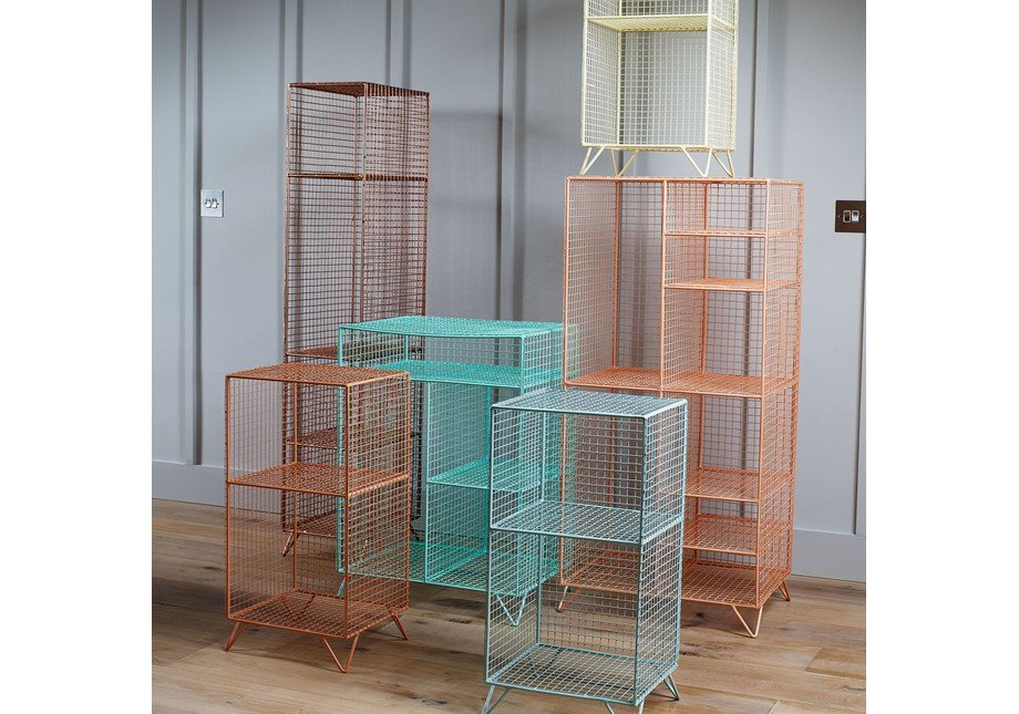 Coral Coral Grid Eight Shelf Mix Match Storage Unit