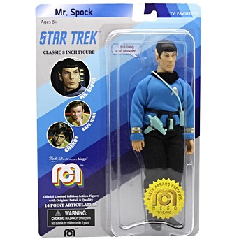 "Mister Spock 8/"" Mego Action Figure Re-Issue"