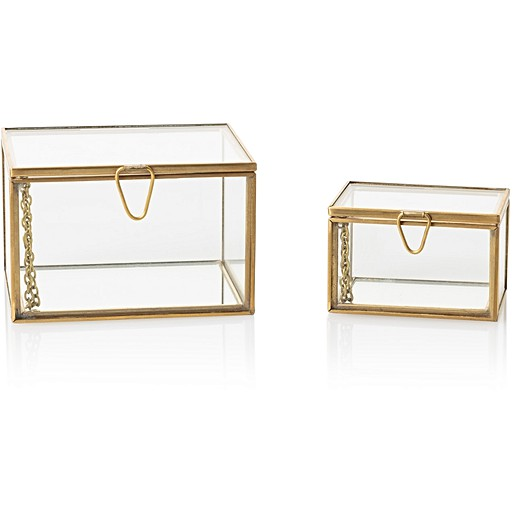 Glass Nesting Boxes : Copper marble three tier jewellery stand oliver bonas