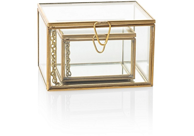 Gold & Glass Nesting Trinket Boxes