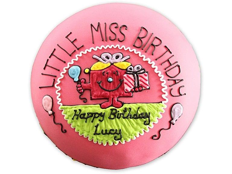 Personalised Little Miss Birthday Cake Biscuiteers - Little miss birthday cake