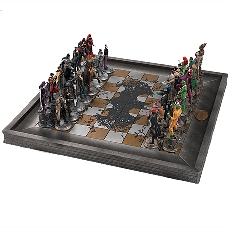 Batman Collector's Chess Set 32 Pieces | Colección de Superhéroes de DC