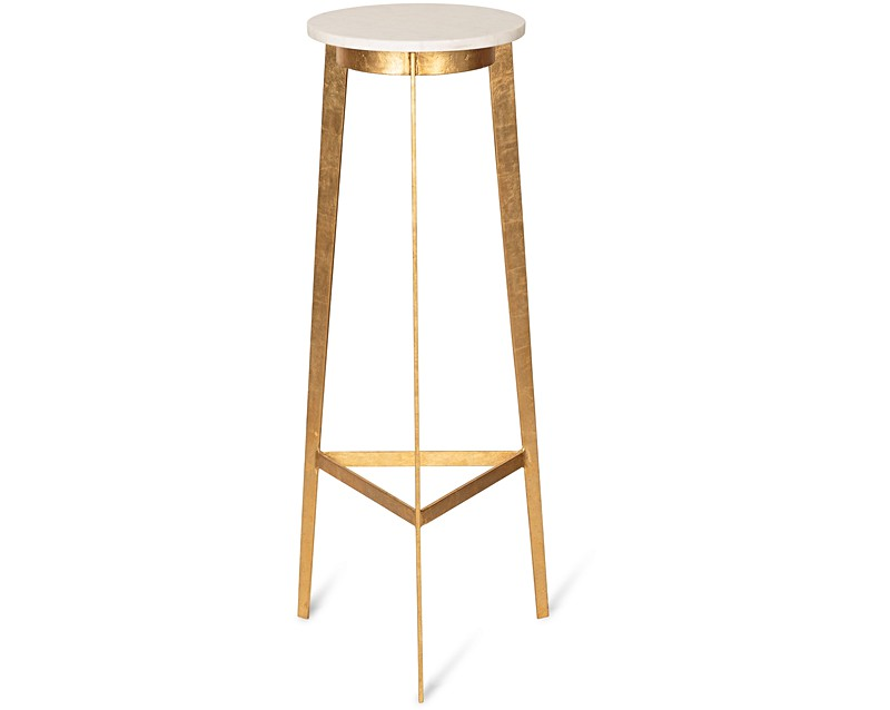 White luxe high side table oliver bonas for High side table