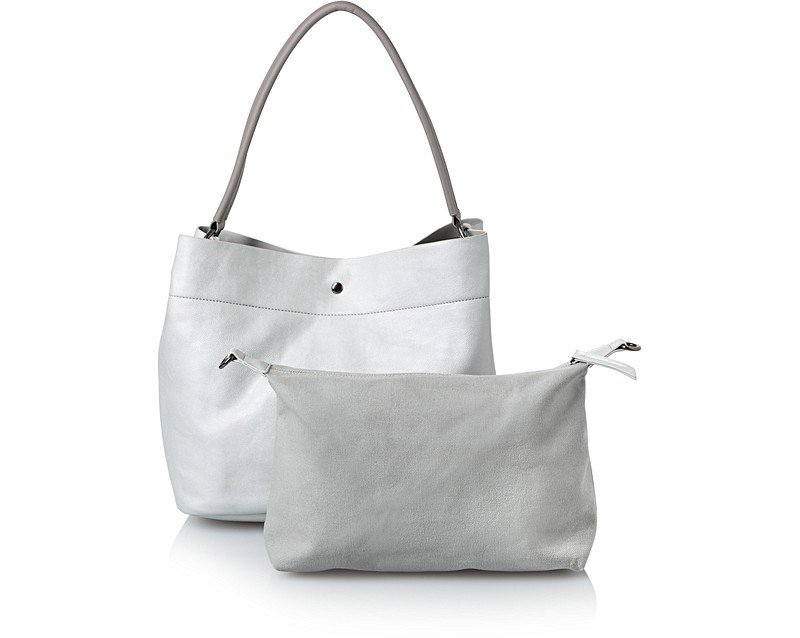 Silver Silver Hobo Slouch Bag | Oliver Bonas